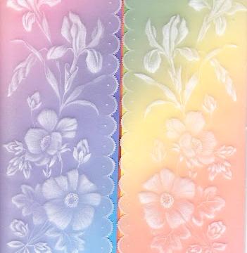 Iris and rosebuds card