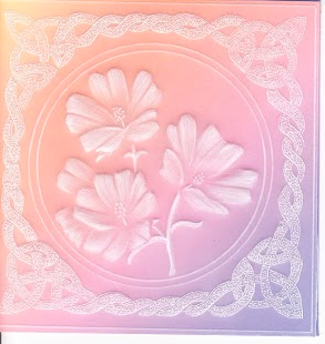 Mallow in a Celtic Frame pattern