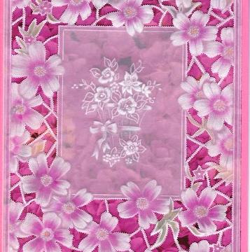 Pink Moss Frame, pattern