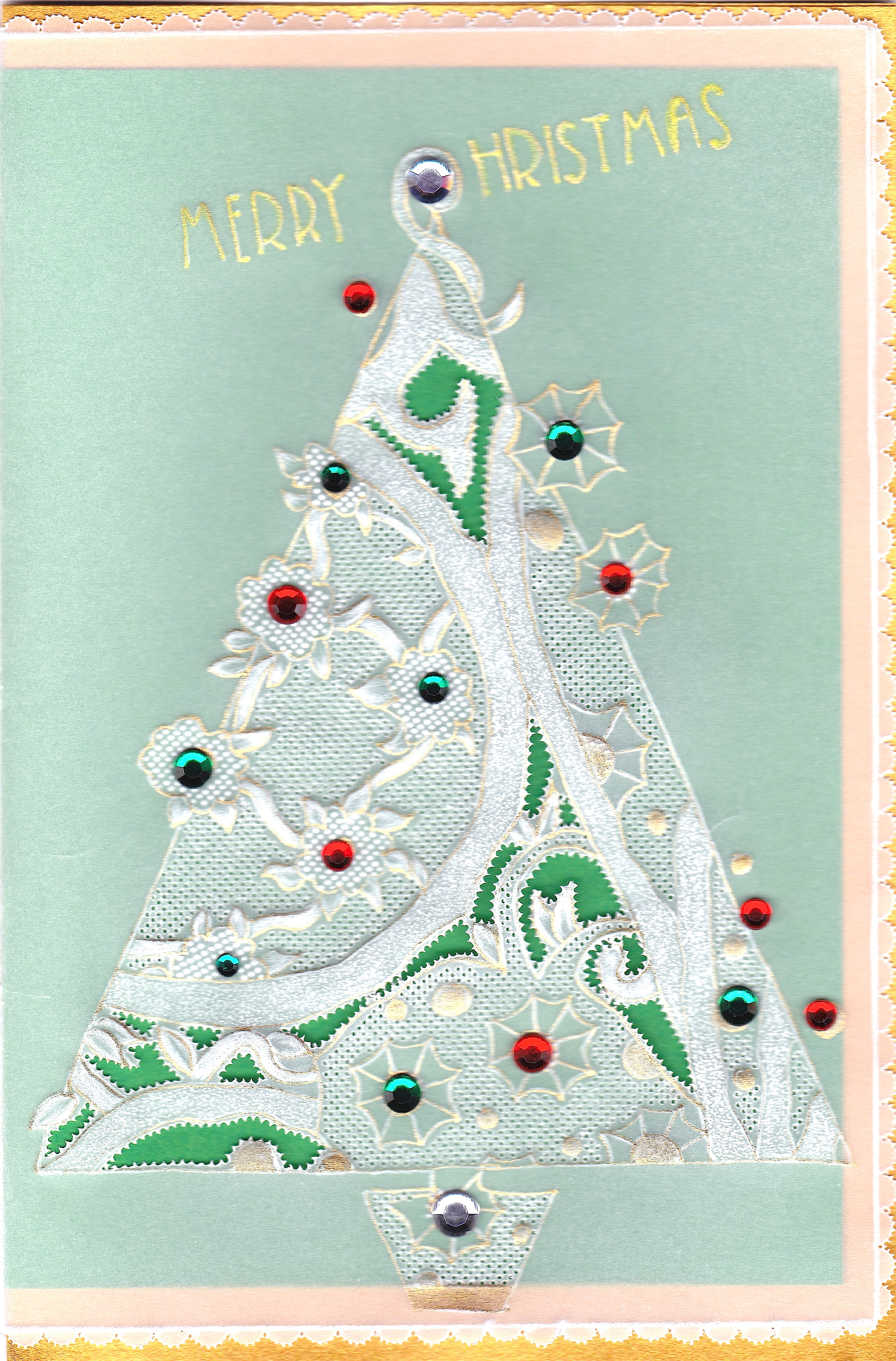 Mandy haines 39 swirly christmas tree 39 mhpattern20 a for Christmas tree cards to make