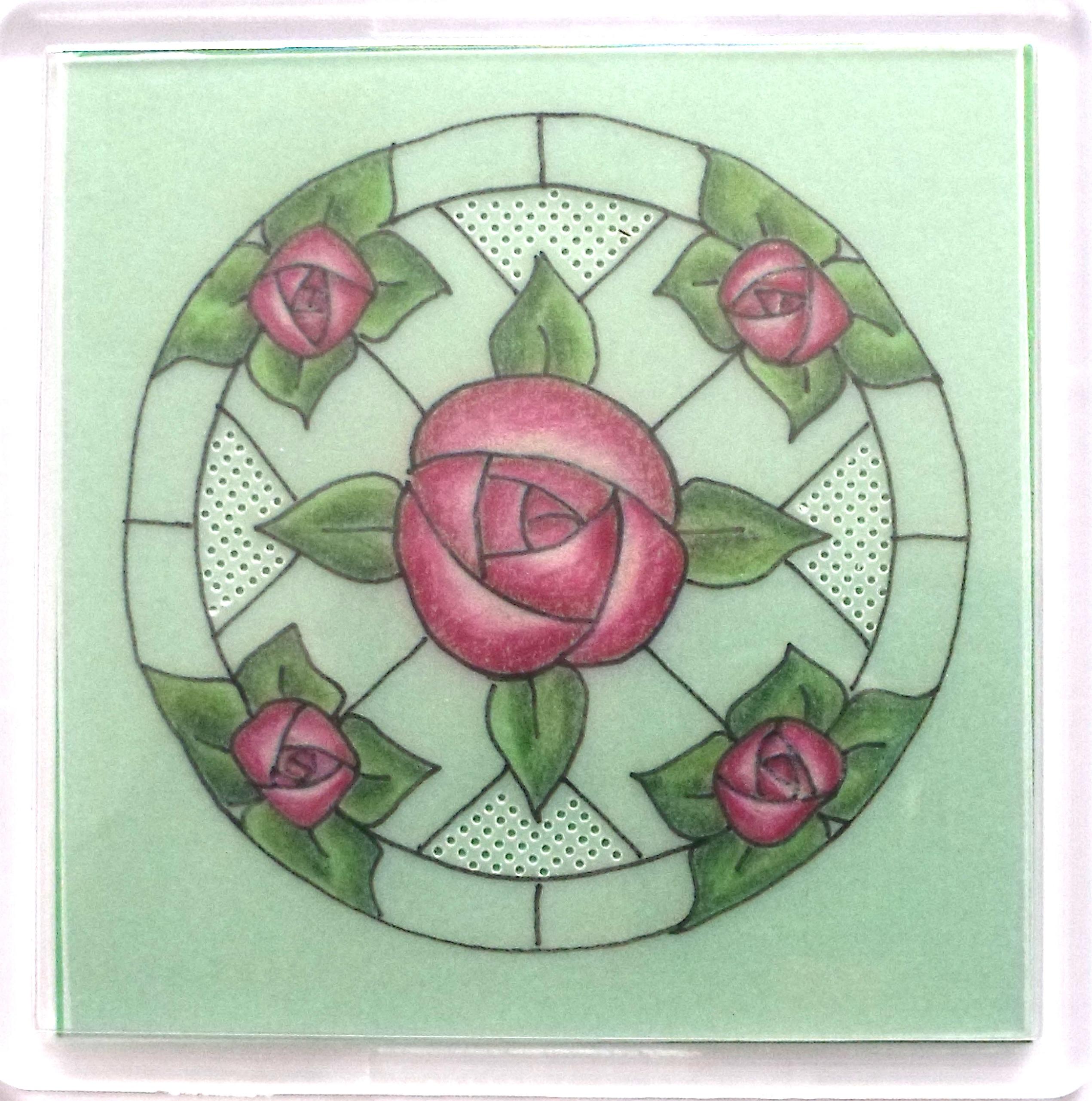 Art Nouveau Coaster 1 – A Free Pattern – MHFree1