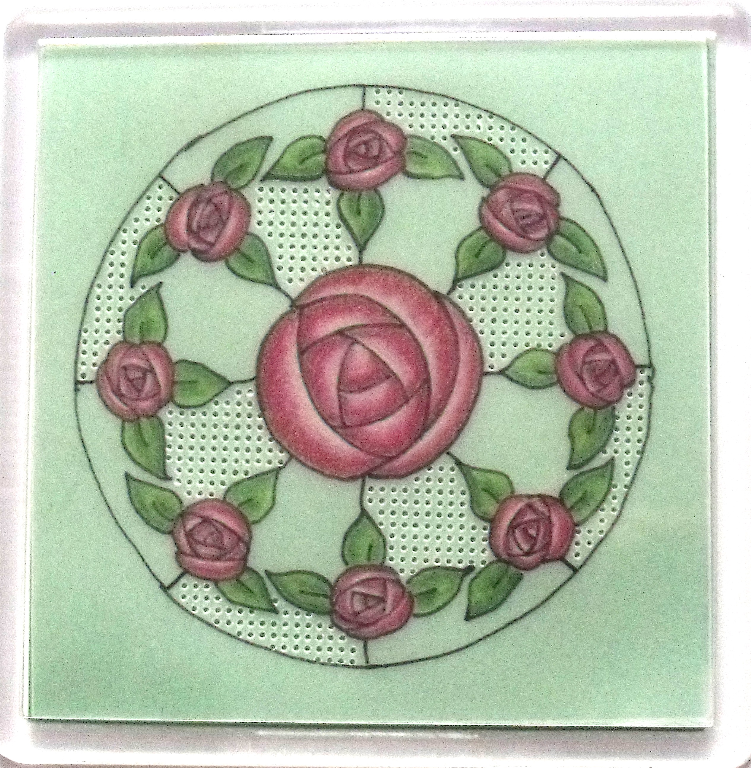 Art Nouveau Coaster 2 – A Free Pattern – MHFree2