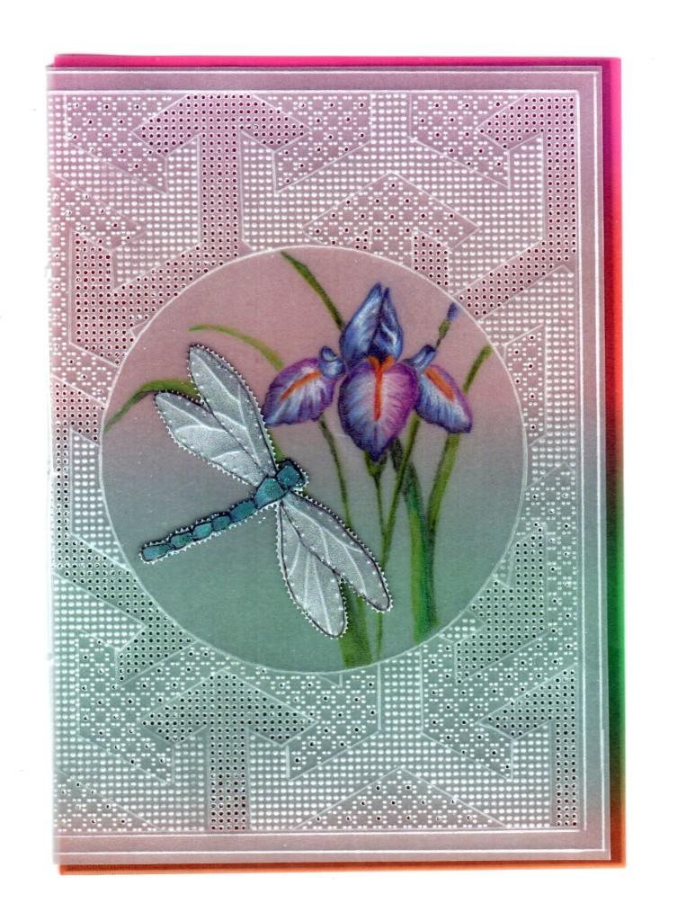 Mandy Haines Purple Iris Mhpattern29 A Card Pattern
