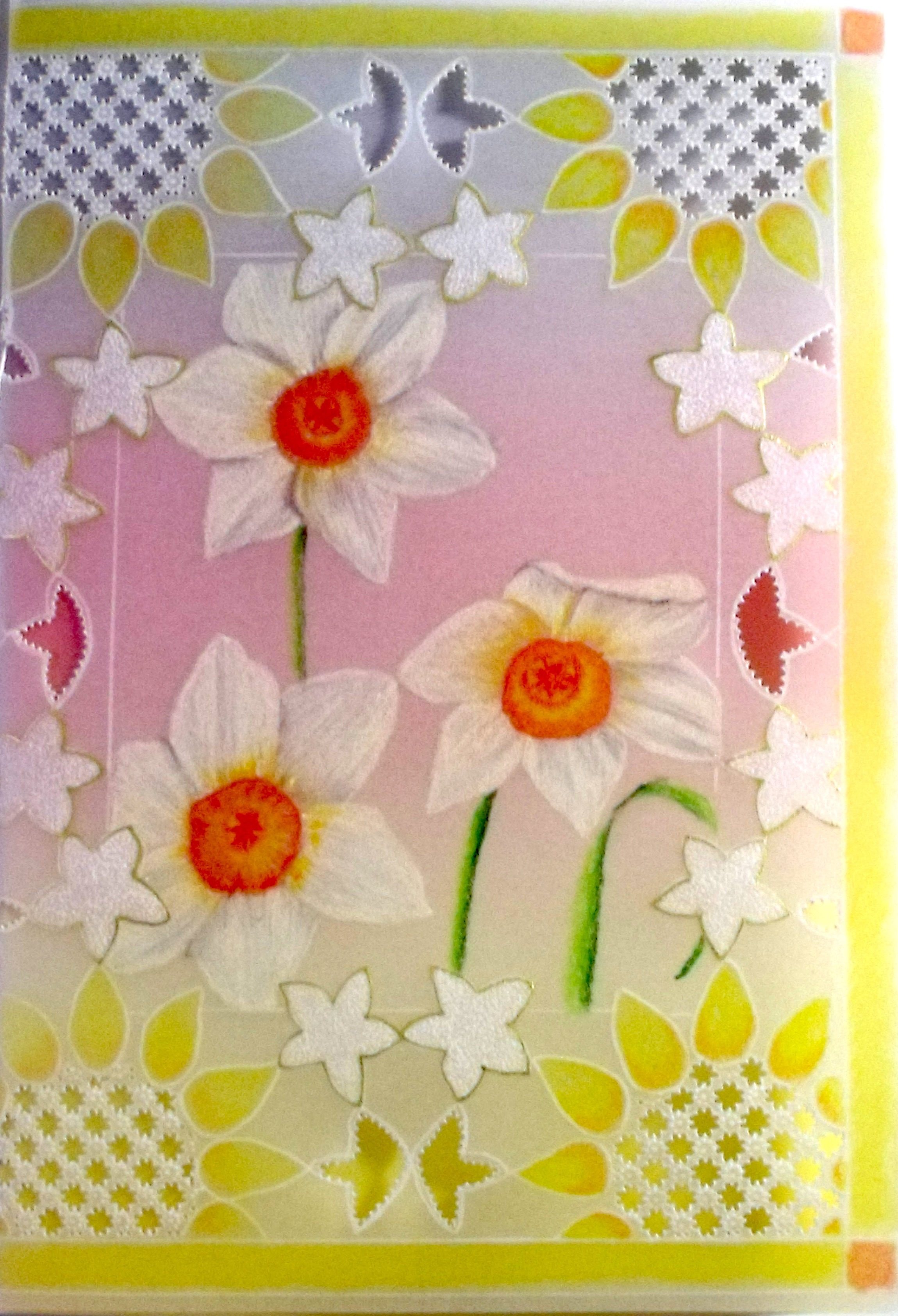 Daffodil Sunshine – Card Pattern Download 30