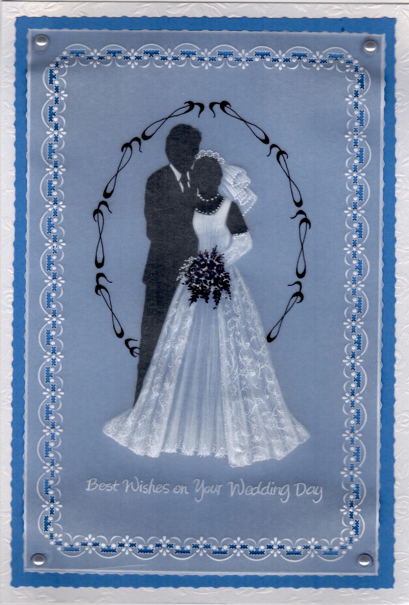 BEAUTIFUL 3D BRIDE /& GROOM WEDDING DAY CARD TOPPER