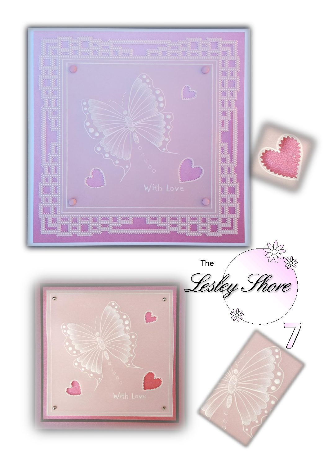 Lesley Shore Pattern Butterfly Card – LSPatternPack07- A Pattern Pack Download