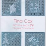 Tina Cox Pattern Pack – Filigree Christmas – TCPatternPack24 – A Card Pattern Pack Download